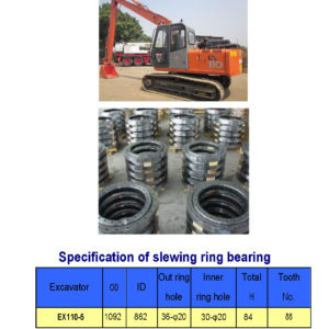 SLEWING BEARING FOR HITACHI EXCAVATOR EX110-5