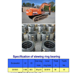 SLEWING BEARING FOR HITACHI EXCAVATOR EX150-5
