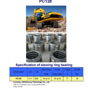SLEWING BEARING FOR KOMATSU EXCAVATOR PC128