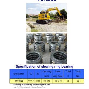 SLEWING BEARING FOR KOMATSU EXCAVATOR PC138US