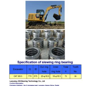 slewing bearing for caterpillar excavator CAT 305.5