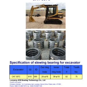 slewing bearing for caterpillar excavator CAT 307C