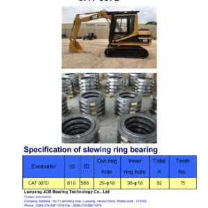 slewing bearing for caterpillar excavator CAT 307D