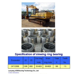slewing bearing for caterpillar excavator CAT E200B