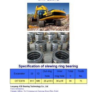 slewing bearing for caterpillar excavator CAT E307B