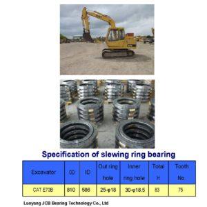 slewing bearing for caterpillar excavator CAT E70B