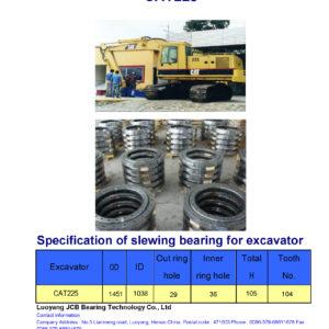 slewing bearing for caterpillar excavator CAT225