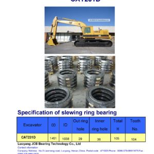 slewing bearing for caterpillar excavator CAT231D