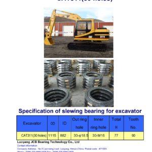 slewing bearing for caterpillar excavator CAT311 holes 30