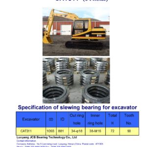 slewing bearing for caterpillar excavator CAT311 holes 34