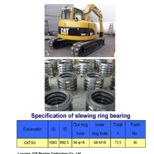 slewing bearing for caterpillar excavator CAT312