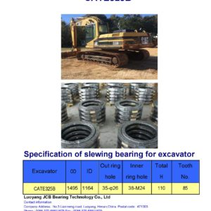 slewing bearing for caterpillar excavator CATE325B