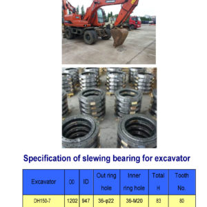 slewing bearing for daewoo excavator DH150-7