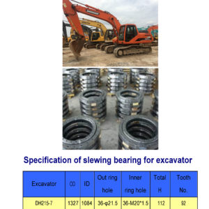 slewing bearing for daewoo excavator DH215-7
