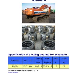 slewing bearing for daewoo excavator DH220-2