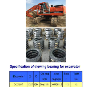 slewing bearing for daewoo excavator DH225LC-7