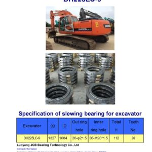 slewing bearing for daewoo excavator DH225LC-9