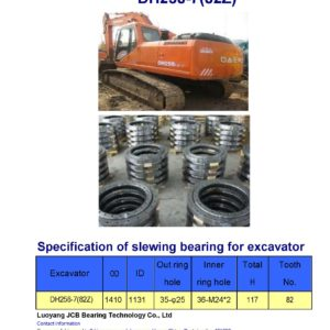 slewing bearing for daewoo excavator DH258-7 tooth 82