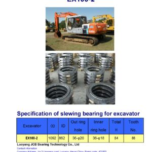 slewing bearing for hitachi excavator EX100-2