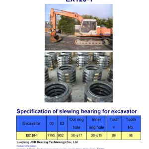slewing bearing for hitachi excavator EX120-1