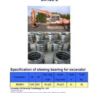 slewing bearing for hitachi excavator EX120-3