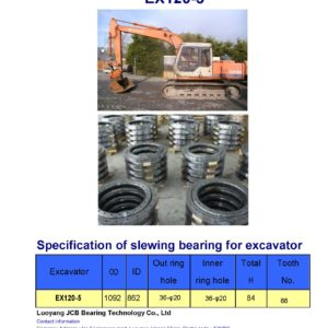 slewing bearing for hitachi excavator EX120-5