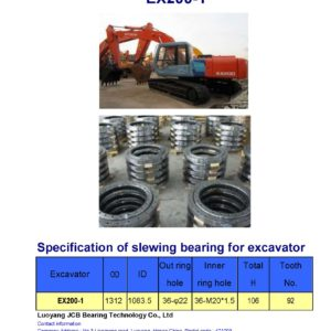slewing bearing for hitachi excavator EX200-1