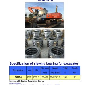 slewing bearing for hitachi excavator EX210-5