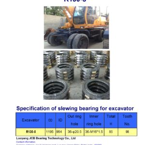 slewing bearing for hyundai excavator R130-5