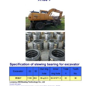 slewing bearing for hyundai excavator R130-7