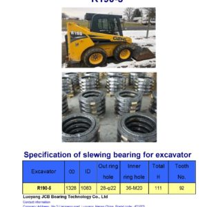 slewing bearing for hyundai excavator R190-5