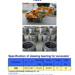 slewing bearing for hyundai excavator R200