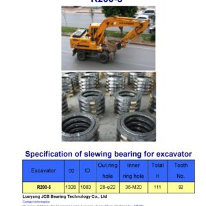 slewing bearing for hyundai excavator R200-5
