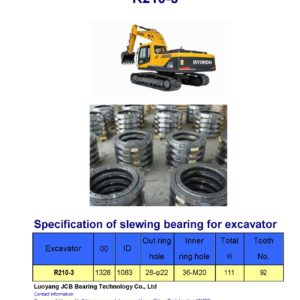 slewing bearing for hyundai excavator R210-3