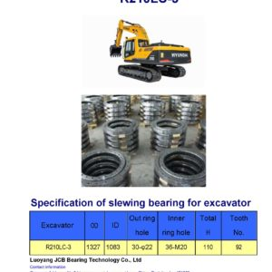 slewing bearing for hyundai excavator R210LC-3