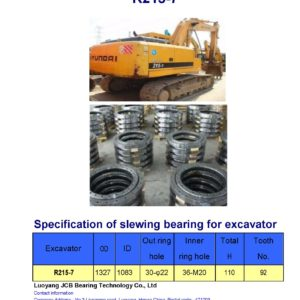 slewing bearing for hyundai excavator R215-7