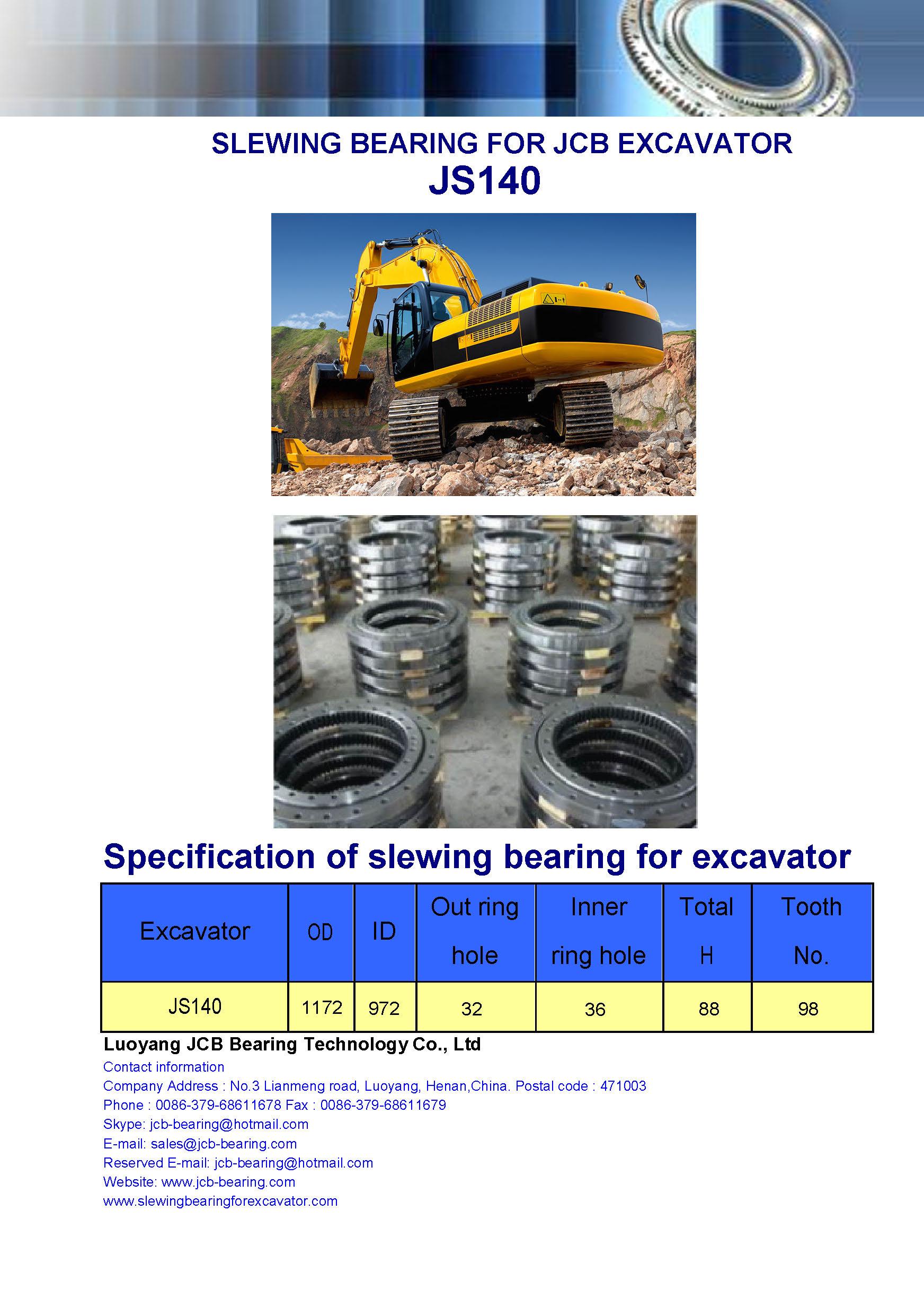 slewing bearing for jcb excavator JS 140 (swing bearing)
