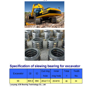 slewing bearing for jcm excavator 90
