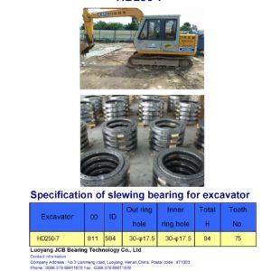 slewing bearing for kato excavator HD250-7