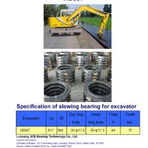 slewing bearing for kato excavator HD307