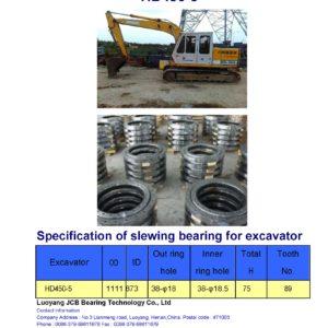 slewing bearing for kato excavator HD450-5