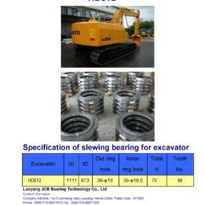 slewing bearing for kato excavator HD512