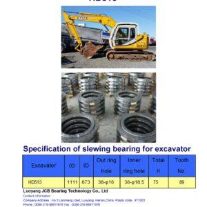 slewing bearing for kato excavator HD513