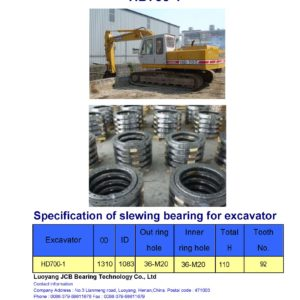 slewing bearing for kato excavator HD700-1