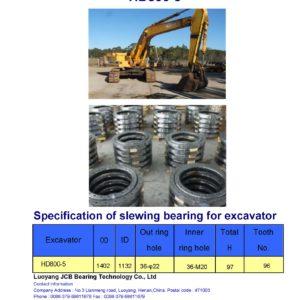 slewing bearing for kato excavator HD800-5