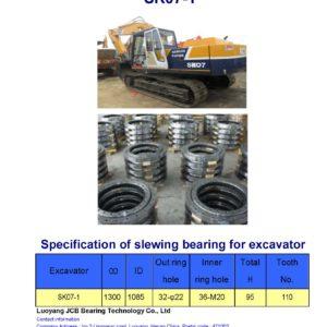 slewing bearing for kobelco excavator SK07-1