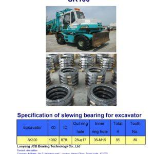 slewing bearing for kobelco excavator SK100