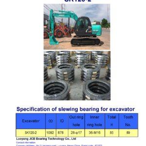 slewing bearing for kobelco excavator SK120-2