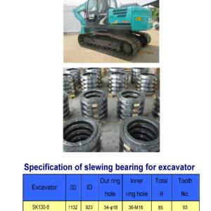 slewing bearing for kobelco excavator SK130-8