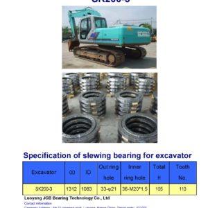 slewing bearing for kobelco excavator SK200-3